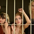 Stock Photo: Women in prison. Retro portrait.