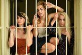Women in prison. Retro portrait. — Stock Photo