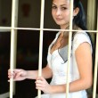 Bride in prison - Foto Stock
