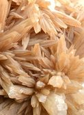 Cluster of twinned aragonite — Stock Photo