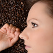 Coffee. Beautiful Girl in Coffee — Stock Photo #15353087