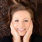Coffee. Beautiful Girl in Coffee — Стоковое фото