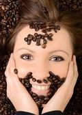 Kahve. kahve güzel kız — Stok fotoğraf
