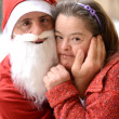 Royalty-Free Stock Photo: Santa with down syndrome