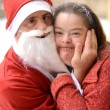 Santa with down syndrome  — Stock Photo