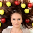Girl with apples — Stock Photo #18123877