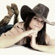Sexy Cowgirl — Stock Photo #18123971