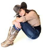 Sexy cowgirl — Stockfoto