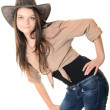 Sexy cowgirl — Stock Photo