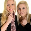 Portrait of two young blond women — Stock Photo