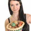 Young woman with Easter egg — Stock Photo #21291827