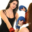 Women with boxing gloves — Stock Photo #21519321