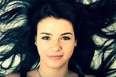 Beautiful European young woman — Stock Photo