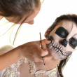 Horror Scene of a Scary Woman - Bride — Stock Photo #22082691