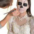 Horror Scene of a Scary Woman - Bride - Stockfoto