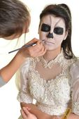 Horror Scene of a Scary Woman - Bride — Stock Photo