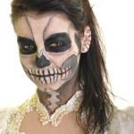 corps peinture masque mort crâne visage art — Photo