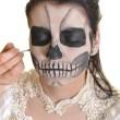 corps peinture masque mort crâne visage art — Photo #22277481