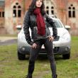 Sexy woman and car - Stockfoto