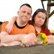Royalty-Free Stock Photo: Down syndrome love couple
