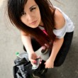 Punk style girl — Stock Photo
