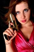 Sexy woman holding gun — Stock Photo