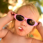 Portrait of cute little girl — Stock Photo #30373391