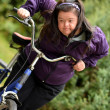 Woman Riding Trike — Stock Photo #30906721