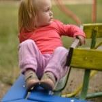 Baby girl having fun — Stock Photo