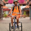 Man Riding Tricycle — Stockfoto