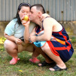 Couple with down syndrome — Stock Photo #31249973