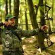 Archer training with the bow — Foto Stock
