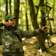 Archer training with the bow — Foto de Stock