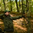 Archer training with the bow — ストック写真