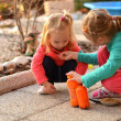 Little girls playing — Stock Photo