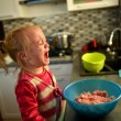 Little girl cooking — Stock Photo #35842449