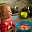 Little girl cooking — Stock Photo #35846877