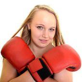 La mujer del boxeador — Foto de Stock