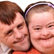Down syndrome couple — Stock Photo #36430593