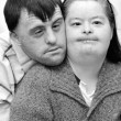 Down syndrome couple — Stock Photo