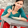 Woman eating — Stock Photo