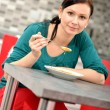 Stock Photo: woman eating