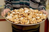 Homemade various christmas gingerbread cookies — Stock Photo