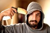 Kafasına silah tutan adam — Stok fotoğraf