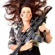 Woman with a gun — Stock Photo #39345435