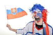 Slovakian supporter — Stock Photo