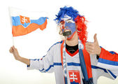 Slovakian supporter — Stock Photo