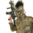 Stock Photo: Soldier mand machine gun