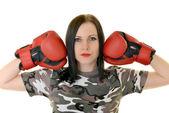 Žena boxer — Stock fotografie