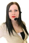 Woman customer service worker — Stock Photo
